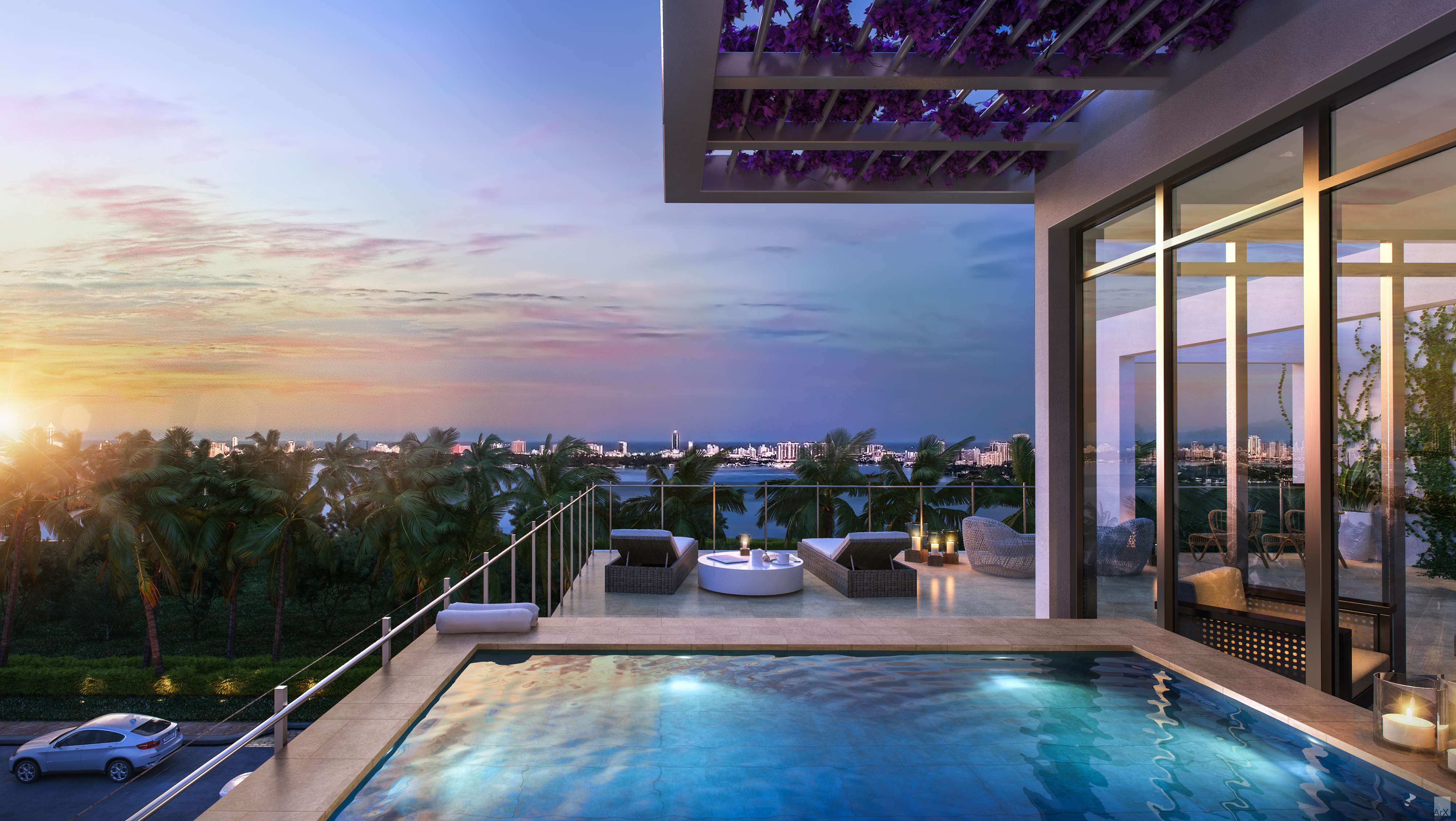 Modern Luxury Penthouses Miami Luxury Condos At Granparaiso Miami Penthouses For Sale