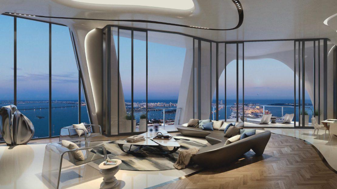 Luxury Miami Penthouses. 1000 Museum Residences - Miami Penthouses