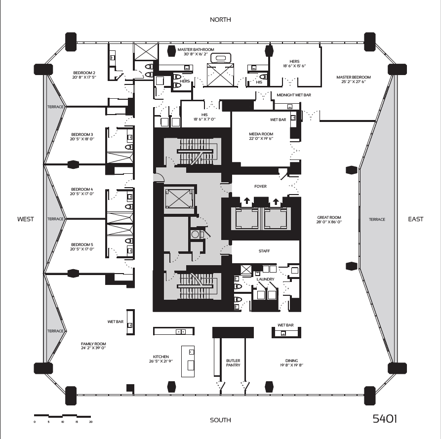 1000 museum penthouses luxury miami penthouses for 1000 museum miami floor plans