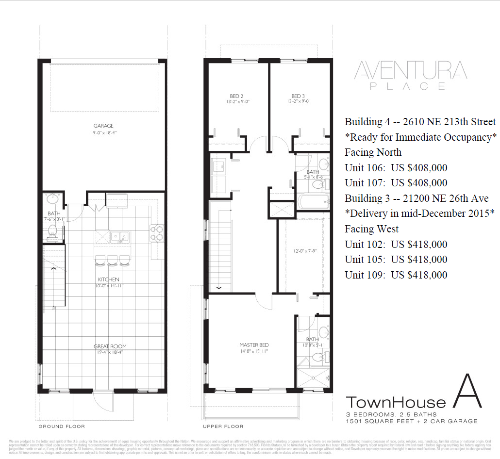 Two Garage Condo Developments Planned For Martin City Area: Townhomes For Sale In Miami At Aventura Place. Aventura