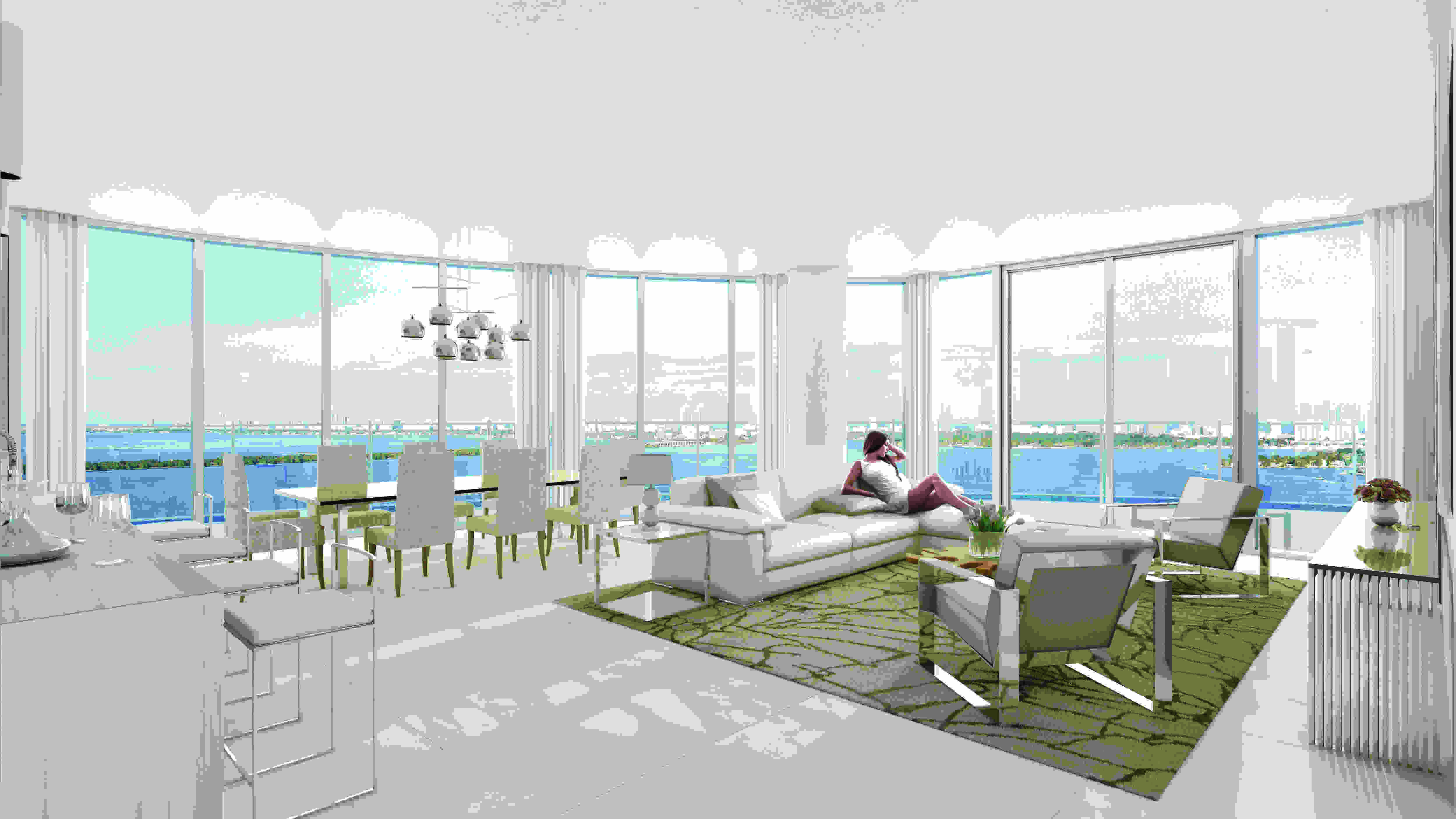 Miami waterfront condos for sale at Aria on the Bay
